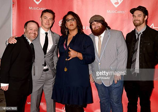 Heath Fogg, Brittany Howard, Zac Cockrell, and Steve Johnson of the Alabama Shakesattends the 2013 MusiCares Person Of The Year Honoring Bruce...