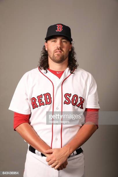 Heath Hembree of the Boston Red Sox poses during Photo Day on Sunday February 19 2017 at JetBlue Park in Fort Myers Florida