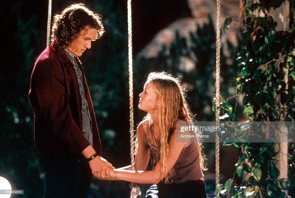 Heath Ledger And Julia Stiles In '10 Things I Hate About You' : News Photo