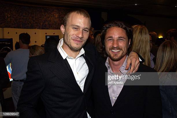 Heath Ledger and Martin Henderson during The Ring Premiere Arrivals at Mann Bruin Theatre in Los Angeles