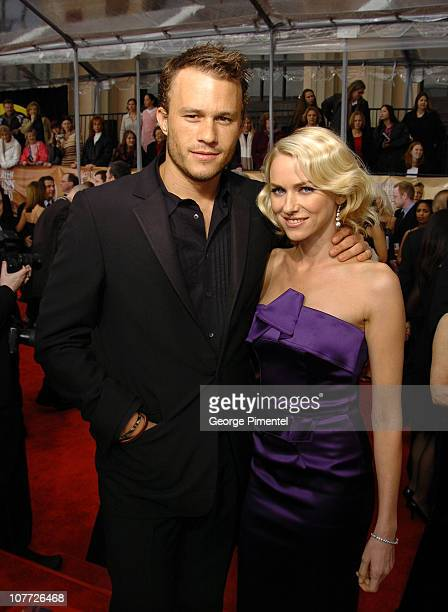 Heath Ledger and Naomi Watts during 10th Annual Screen Actors Guild Awards Access Hollywood Red Carpet at Shrine Auditorium in Los Angeles California...