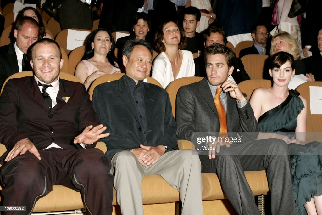 Heath Ledger, Ang Lee, Jake Gyllenhaal and Anne Hathaway