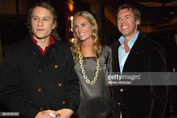 Heath Ledger Annie Taube and Jim Seuss attend THE CINEMA SOCIETY and COLE HAAN host a screening of 'CANDY' at Tribeca Grand Screening Room on...