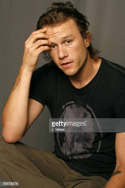 Heath Ledger at the Portrait Studio in Toronto, Canada.