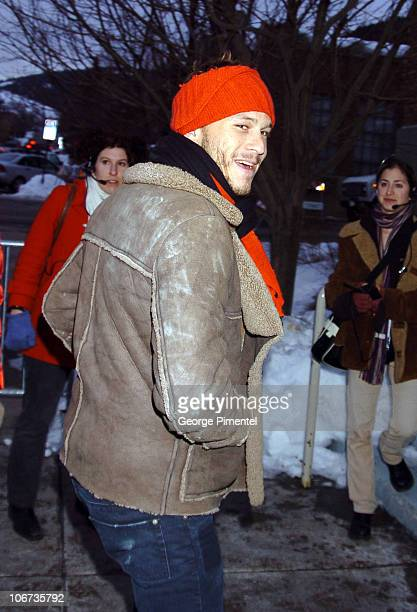 Heath Ledger during 2004 Sundance Film Festival Dramatic Competetion 'We Don't Live Here Anymore' Premiere at Library in Park City Utah United States