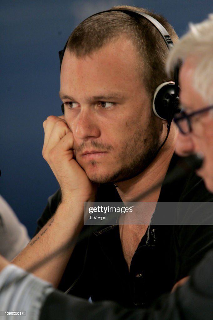 Heath Ledger during 2005 Venice Film Festival - 'Brokeback Mountain' Press Conference at Casino Palace in Venice Lido, Italy.