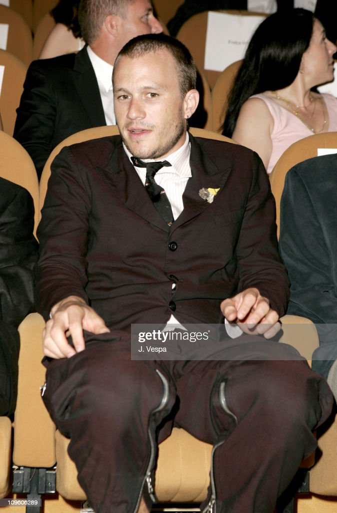 Heath Ledger during 2005 Venice Film Festival - 'Brokeback Mountain' Premiere - Inside at Palazzo del Cinema in Venice Lido, Italy.