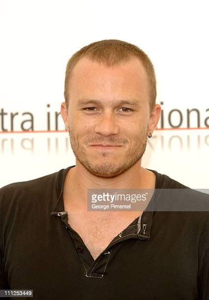 Heath Ledger during 2005 Venice Film Festival 'Brokeback Mountain' Photocall at Casino Palace in Venice Lido Italy