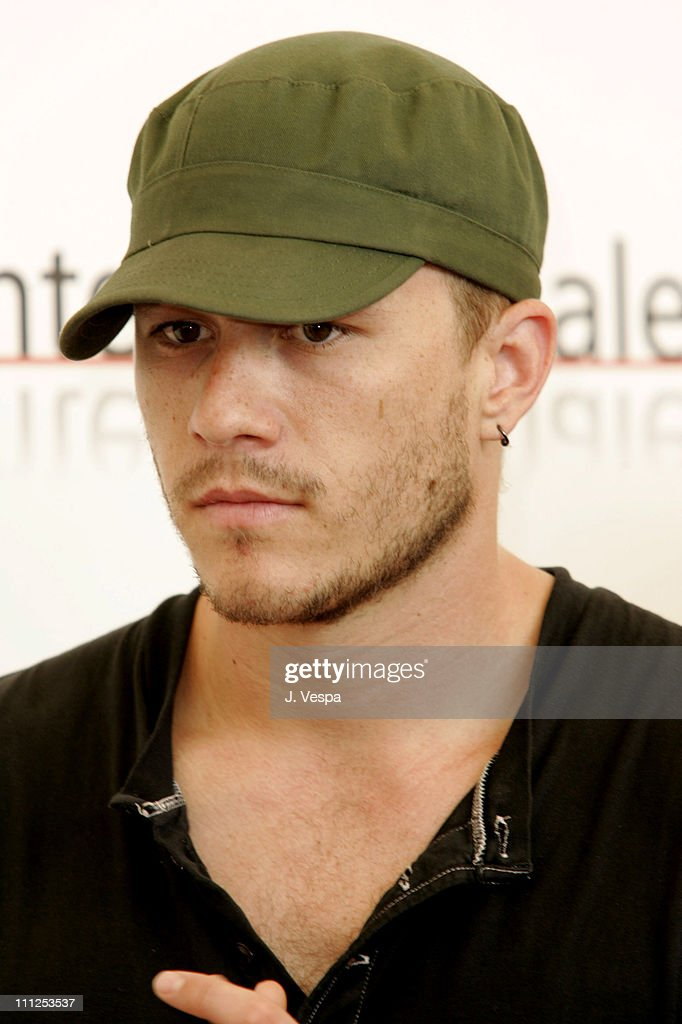 Heath Ledger during 2005 Venice Film Festival - 'Brokeback Mountain' Photocall at Casino Palace in Venice Lido, Italy.