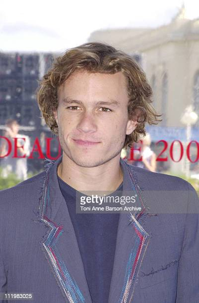 Heath Ledger during Deauville 2001 A Knight's Tale Photocall at Centre International Deauville CID in Deauville France