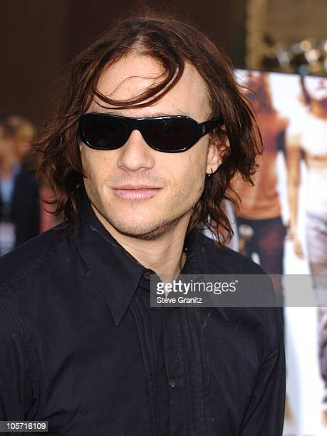 Heath Ledger during 'Lords of Dogtown' Los Angeles Premiere Arrivals at Grauman's Chinese Theatre in Hollywood California United States
