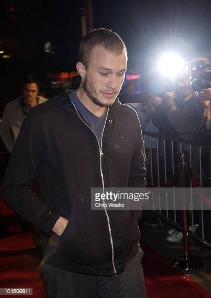 Heath Ledger during Premierei of The Rules of Attraction Hosted by Flaunt Magazine at The Egyptian Theatre in Hollywood CA United States