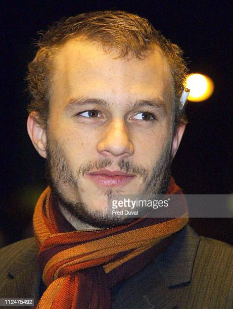 Heath Ledger during The Four Feathers London Premiere at Odeon West End in London Great Britain
