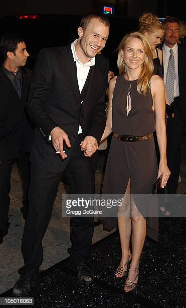 Heath Ledger Naomi Watts during 'The Ring' Premiere at Mann Bruin Theatre in Westwood California United States