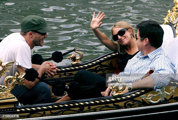 Heath Ledger Sienna Miller and Oliver Platt during 2005 Venice Film Festival Sienna Miller Sighting September 3 2005 in Venice Lido Italy