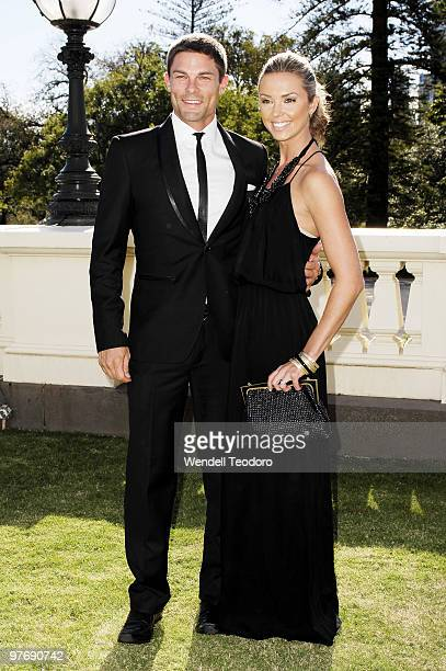 Heath Meldrum and Brodie Harper attends the Opening Night Party for the 2010 L'Oreal Melbourne Fashion Festival at Government House on March 14 2010...