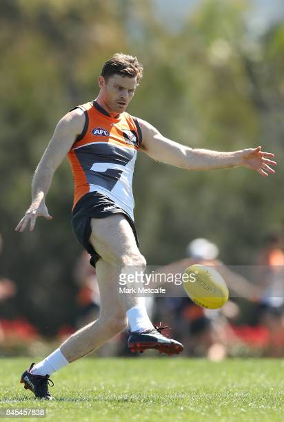 Heath Shaw of the Giants in action during the Greater Western Giants AFL training session at Spotless Stadium on September 11 2017 in Sydney Australia
