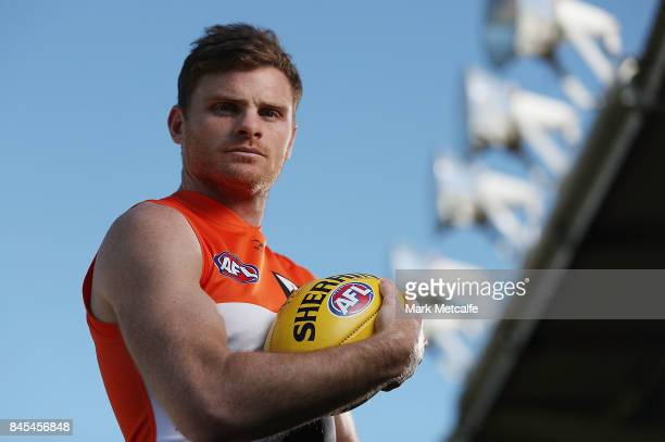 Heath Shaw of the Giants poses during the Greater Western Giants AFL training session at Spotless Stadium on September 11 2017 in Sydney Australia