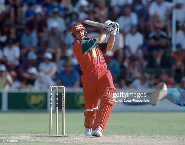 Heath Streak batting for Zimbabwe during the 3rd One Day International between Zimbabwe and England at Harare Sports Club, Harare, Zimbabwe, 20th...