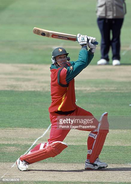 Heath Streak batting for Zimbabwe during the NatWest Series Final between England and Zimbabwe at Lord's Cricket Ground, London, 22nd July 2000.