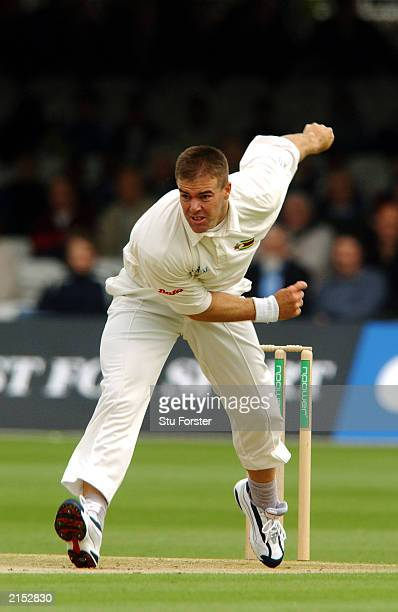 Heath Streak of Zimbabwe bowls during the second day of the first npower Test match between England and Zimbabwe held on May 23, 2003 at Lords...