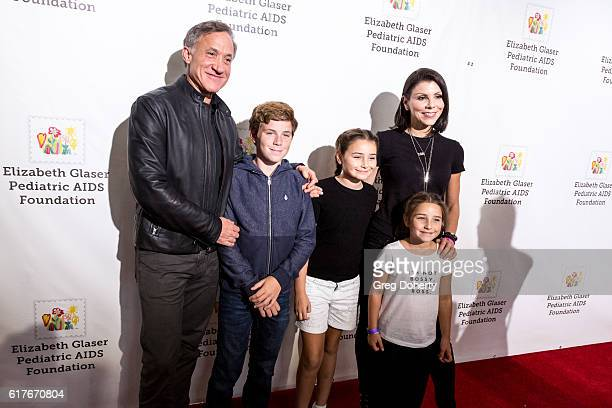 Heather and Terry Dubrow and family arrive for the Elizabeth Glaser Pediatric AIDS Foundation's 27th Annual A Time For Heroes at Smashbox Studios on...