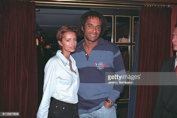 Heather and Yannick Noah at Villa Barclay.