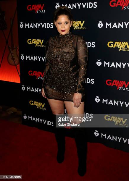 Heather Bae attends the 2020 GayVN Awards show at The Joint inside the Hard Rock Hotel Casino on January 20 2020 in Las Vegas Nevada