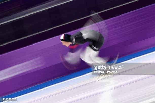 Heather Bergsma of the United States competes during the Ladies' 1000m Speed Skating on day five of the PyeongChang 2018 Winter Olympics at Gangneung...