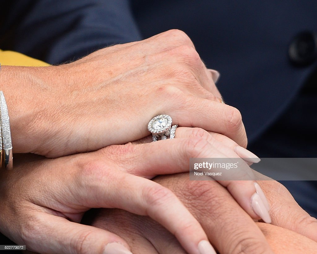 Heather Bilyeau Wedding Ring Detail Visits Extra At Universal News Photo Getty Images