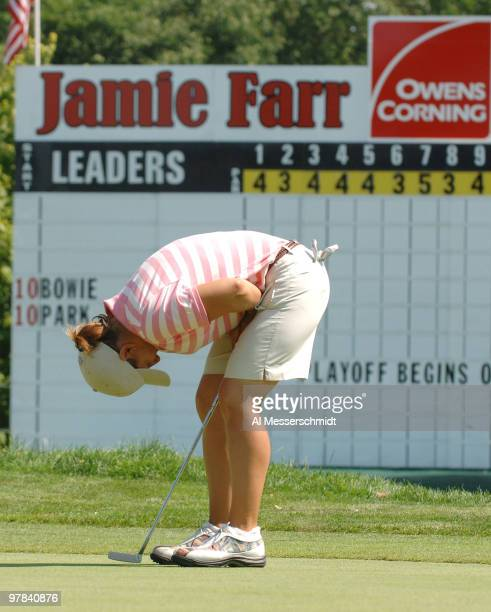 Heather Bowie misses a crucial putt on the 72nd hole that would have won the tournament during the final round of the Jamie Farr Owens Corning...