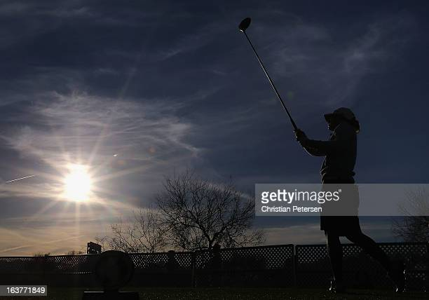 Heather Bowie Young hits a tee shot on the first hole during the second round of the RR Donnelley LPGA Founders Cup at Wildfire Golf Club on March 15...