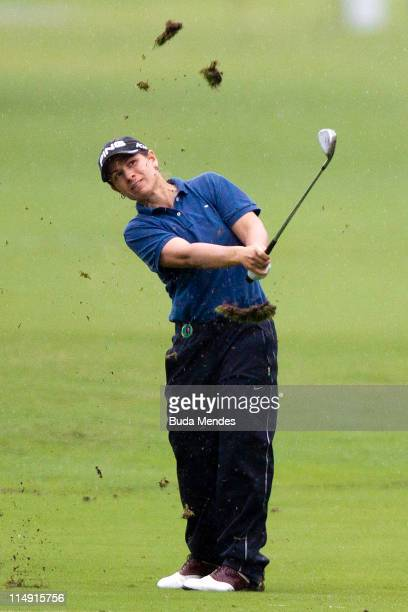 Heather Bowie Young of the USA hits a shot during the first round of the HSBC LPGA Brazil Cup at the Itanhanga Golf Club on May 28 2011 in Rio de...