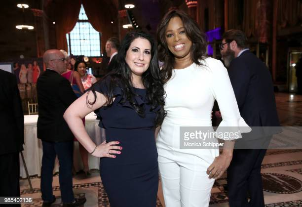 Heather Cohen and Pam Oliver attend The Gracies presented by the Alliance for Women in Media Foundation at Cipriani 42nd Street on June 27 2018 in...