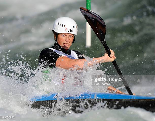 Heather Corrie of the United States during the Women's Kayak Final at the Shunyi Olympic RowingCanoeing Park on Day 7 of the Beijing 2008 Olympic...