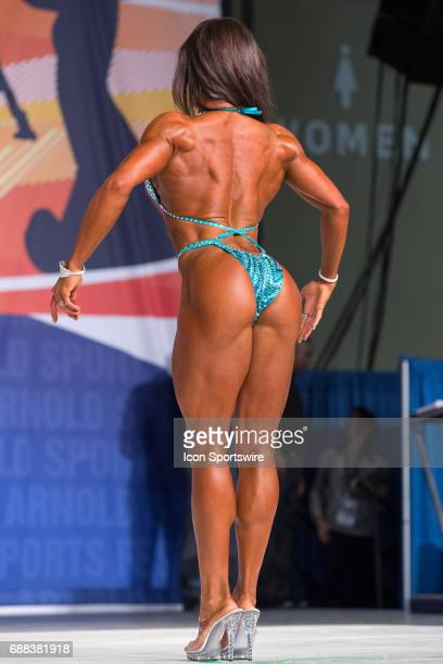 Heather Dees competes in Figure International as part of the Arnold Sports Festival on March 3 at the Greater Columbus Convention Center in Columbus...