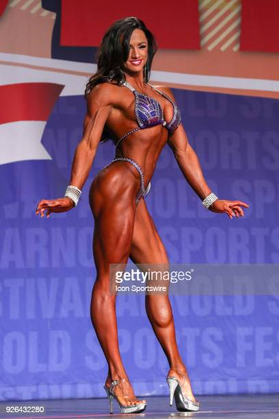 Heather Dees competes in Figure International as part of the Arnold Sports Festival on March 2 at the Greater Columbus Convention Center in Columbus...