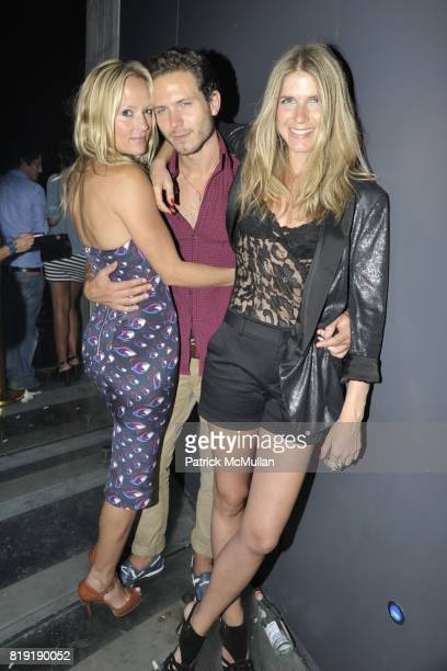 Heather Delphine Matteo Gottarti MariaTheresia attend DAVID LACHAPELLE'S AMERICAN JESUS After Party at the Top of the Standard on July 13 2010 in New...