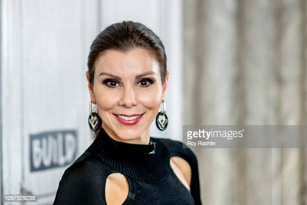 Heather Dubrow attends Build Brunch to discuss the new book 'The Dubrow Diet' at Build Studio on January 21 2019 in New York City
