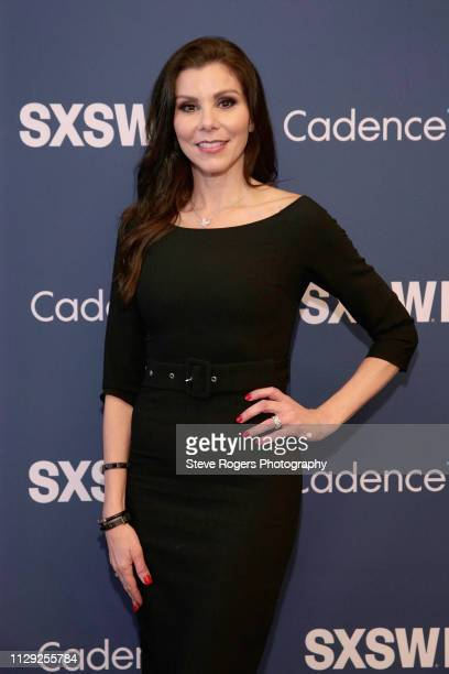 Heather Dubrow attends Heather Dubrow's World Podcast during 2019 SXSW Conference and Festivals at JW Marriott Austin on March 8 2019 in Austin Texas