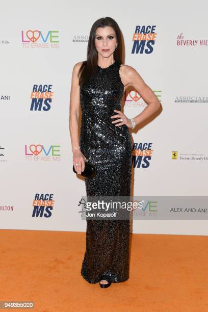 Heather Dubrow attends the 25th Annual Race To Erase MS Gala at The Beverly Hilton Hotel on April 20 2018 in Beverly Hills California