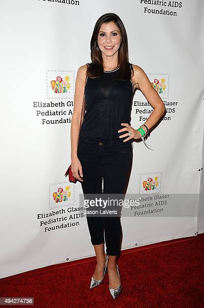 Heather Dubrow attends the Elizabeth Glaser Pediatric AIDS Foundation's 26th A Time For Heroes family festival at Smashbox Studios on October 25 2015...