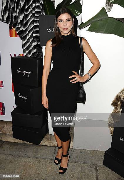 Heather Dubrow attends the EVINE Live celebration at Villa Blanca on September 29 2015 in Beverly Hills California
