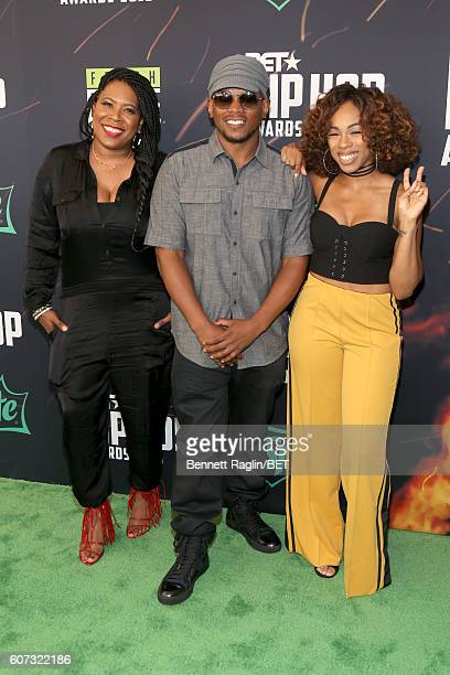 Heather Gardner Sway Calloway Tracy Garraud and attend the BET Hip Hop Awards 2016 Green Carpet at Cobb Energy Performing Arts Center on September 17...
