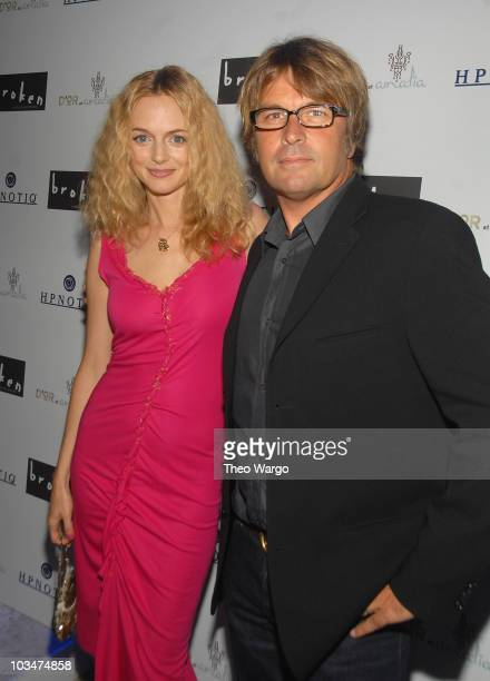 Heather Graham and Director Allan White attend the 'Broken' New York City Premiere afterparty at D'or at Amalia in New York City on October 2 2007