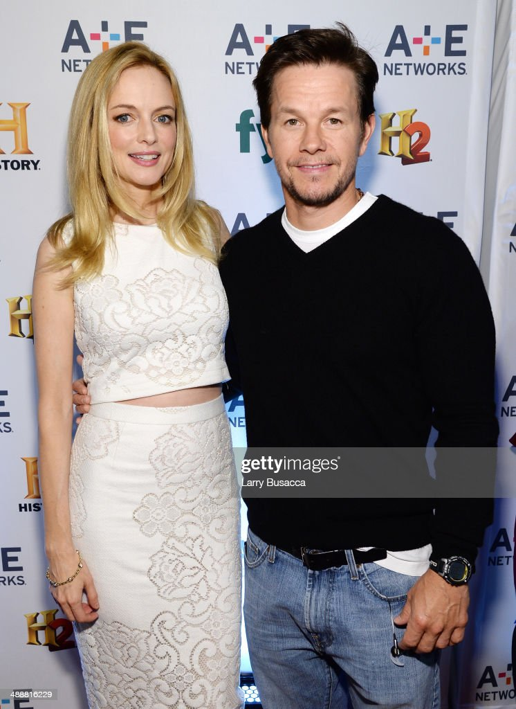 Heather Graham (L) and Mark Wahlberg attend the 2014 A+E Networks Upfront on May 8, 2014 in New York City.