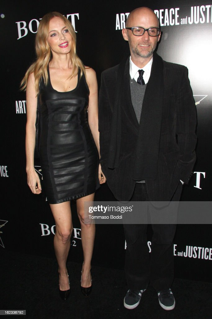 Heather Graham (L) and Moby attend the 6th annual Hollywood Domino Gala & Tournament held at teh Sunset Tower on February 21, 2013 in West Hollywood, California.