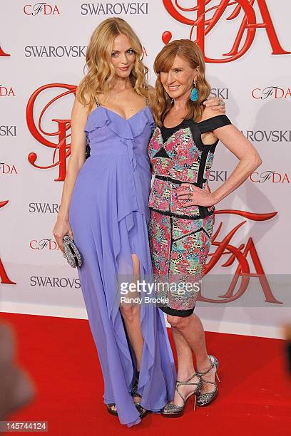 Heather Graham and Nicole Miller attend 2012 CFDA Fashion Awards at Alice Tully Hall on June 4, 2012 in New York City.
