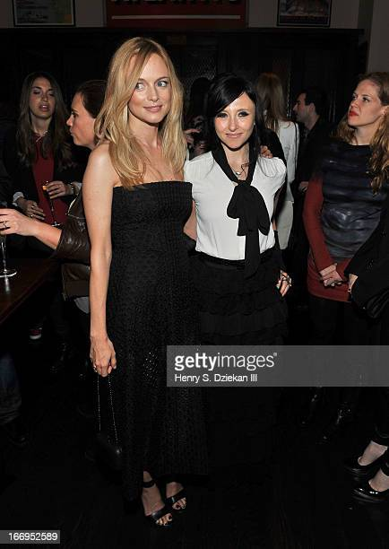 """Heather Graham and Stacey Bendet attend the after party for the Cinema Society & Bally screening of Sony Pictures Classics' """"At Any Price"""" at..."""