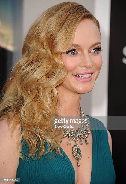 Heather Graham arrives at the The Hangover III Los Angeles Premiere at Mann's Village Theatre on May 20 2013 in Westwood California